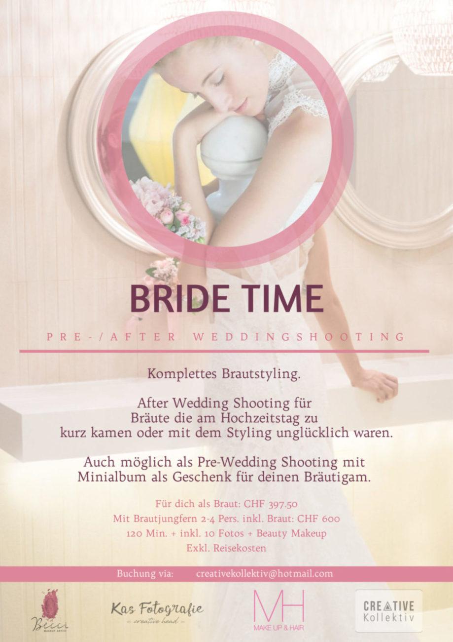 Bride time - Fotoshooting - Hochzeitskleid - Hochzeitsgeschenk - Hochzeit - Braut - Hochzeitsmakeupartist - Hochzeitsmakeup Biel