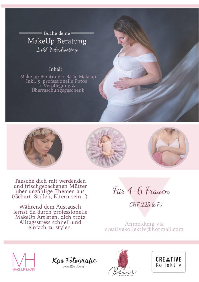 Makeup Beratung - Babybauchshooting - Newborn Shooting - Müttertreff - Makeup Biel